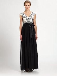 Aidan Mattox Beaded Chiffon Gown
