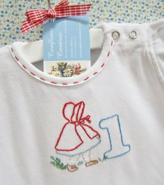 Little Red Riding Hood First Birthday - Hand Embroidered Baby / Toddler Dress