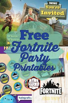 MORE free Fortnite party printables from Mandy's Party Printables