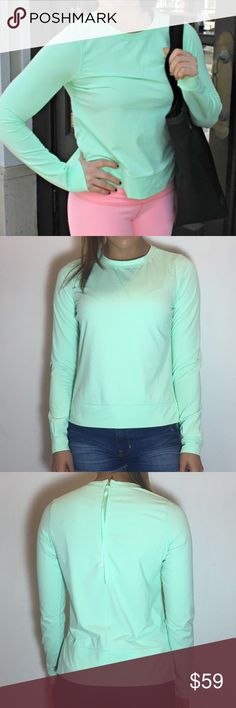 Lululemon Warm Up Crew Lululemon Warm Up Crew in Fresh Teal. -Size 6. -Back zip. -Luxtreme. -Like new.  NO Trades. Please make all offers through offer button. lululemon athletica Tops