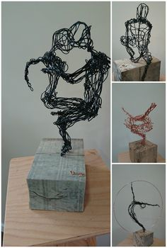 A selection of wire sculptures from Paul Joyner Sculpture Studio