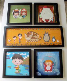 Studio Ghibli tribute pieces by Jerrod Maruyama & Jared Andrew Schorr