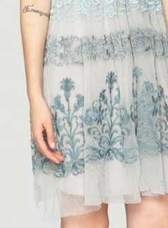 Detail: Johnny Was Bella Embroidered Mesh Dress #ornate #decorative #embroidery #design
