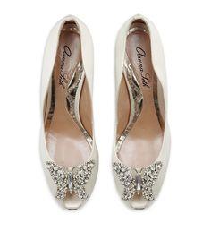 BRIDE SHOES | Aruna Seth Farfalla Satin Peep Toe (Bridal Shoes) - eaWedding
