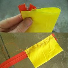 Make a Change Purse - DIY Change Purse Tutorial: Fold the Fabric and Stitch the Zipper Again