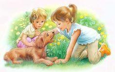 Marcel, Kid Poses, Dachshund Love, Cartoon Pics, Vintage Pictures, Cute Drawings, Childhood Memories, Art For Kids, Fairy Tales