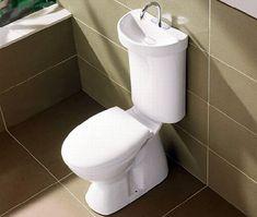 Sink on top of the toilet. CAROMA Profile Smart Toilet Tank