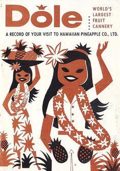 Vintage Hawaii Dole Plantation Visitor Guide 1950s.