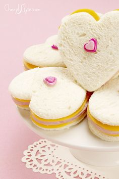 heart shaped sandwiches for #ValentinesDay  |  more Valentine's Day ideas on Everyday Dishes & DIY.com