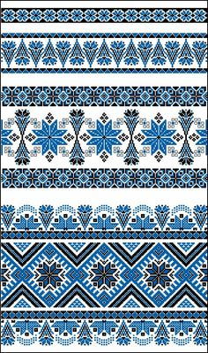 Узоры и орнаменты - Схемы вышивки - Иголка