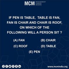 Try our tricky questions and win amazing prizes from Mcm Classes #mcmindia www.mcmindia.org
