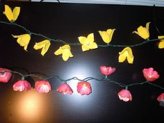 Flower garland using egg cartons