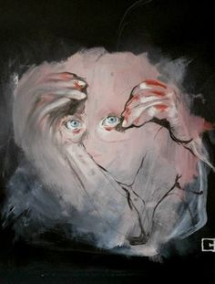 """Saatchi Art Artist olga gal; Painting, """"marked you into my hands"""" #art"""