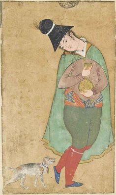A Safavid Youth With His Dog Iran, Circa 1620-1630
