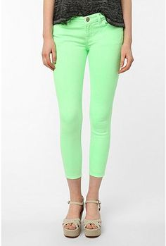 UrbanOutfitters.com > BDG Neon Grazer Mid-Rise Jean - Lime