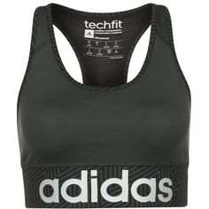 a7ffb67a8461e adidas Performance KNOCKOUT Sports bra dark black white ( 35) ❤ liked on