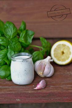 Sos Feta - idealny do karkówki z grilla! Feta, Garlic, Good Food, Food And Drink, Snacks, Vegetables, Recipes, Impreza, Grilling