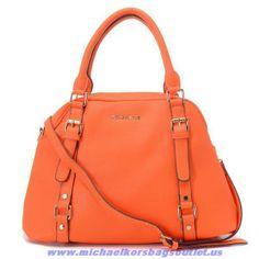 2014 Michael Kors Pebbled Leather Shoulder Bag Orange