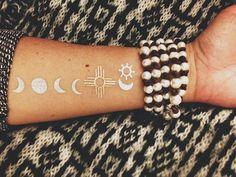 Moon cycle tattoo