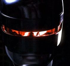 Close up on Robocop helmet
