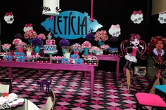 Encontrando Ideias: Festa Monster High!!!