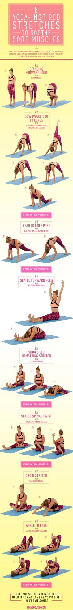 Stretches for Sore Muscles - Yoga-Inspired Stretches