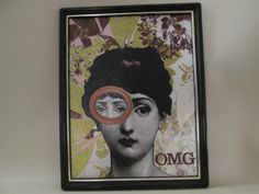 Fornasetti. I used scrapbook paper for the background.