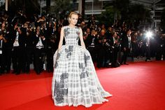 Diane Kruger. Christian Dior Couture. Celebrity Fashion at Cannes Film Festival 2012