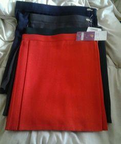 UK School Uniform Girls Summer Dress Pe Sports Wear Kilt Netball Gym Skirt Size