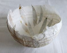 paper bowl with leaves by Ines Seidel