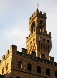tower detail - Palazzo Vecchio atPiazzaSignoria, Florence, Italy  -  (by © Cåsbr)