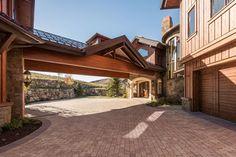 Porte-cochere for a Mountain Home #Burdge