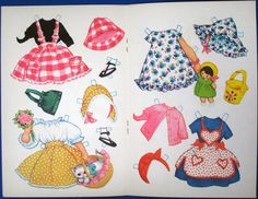 Vintage 1970s Danish Paper Doll Greeting Card Girl and Cat Iben Clante 40 1 | eBay