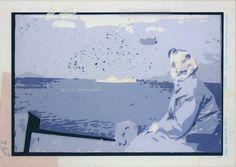 «Les archives de Monsieur X», Céles + Mytbach au Zoute 2004-2005, 54 x 39 cm, collage sur transparents espacé