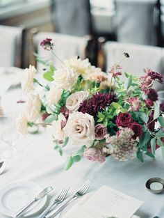 Photography : Winsome And Wright   Reception Venue : Beanos Cabin   Floral Design : Siloh Floral   Event Planning : A Vintage Affair Read More on SMP: http://www.stylemepretty.com/2016/12/08/avon-mountain-cabin-wedding/