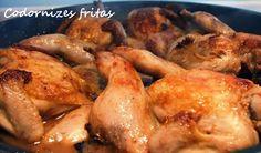 mesa corrida: Codornizes fritas / Pan fried quails