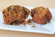 """Zucchini Ginger Spelt Muffins """"I love the taste of the spelt flour and it goes together perfectly with the flavors of ginger and zucchini."""""""