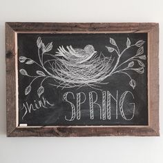 My latest spring chalkboard art {love}