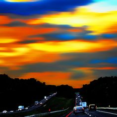 PaintedSky- I wish my commute's looked like this