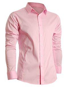 FLATSEVEN Mens Slim Fit Basic Dress Shirts Long Sleeve (SH400) Pink, XL FLATSEVEN http://www.amazon.com/dp/B008LWDFI8/ref=cm_sw_r_pi_dp_JFA3ub1FG5S1K #FLATSEVEN #Mens #Slim Fit #Fashion #Shirts