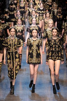 """Dolce & Gabbana Fall 2012 RTW."" Repinned from @Rachel Folmer"