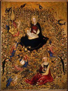"""jeannepompadour: """" Madonna of the rose garden Michelino da Besozzo or Stefano da Verona, 1420-35 """""""