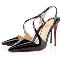 Christian Louboutin  June 100mm Slingbacks Black being unfaithful limited offer,no taxes and free shipping.#shoes #womenstyle #heels #womenheels #womenshoes  #fashionheels #redheels #louboutin #louboutinheels #christanlouboutinshoes #louboutinworld