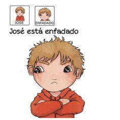 """""""José está enfadado"""" - Proyecto sin ánimo de lucro que consiste en la creación, producción y difusión de cuentos infantiles adaptados a pictogramas para niños con autismo y otras necesidades especiales de aprendizaje, http://www.aprendicesvisuales.com/cuentos/"""