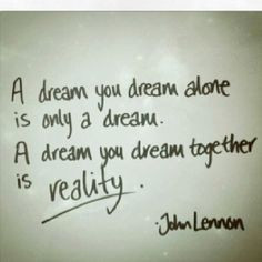 Dream to Reality - a Simple Suggestion :)