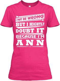 Best T Shirt Name Ann!! Heliconia Women's T-Shirt Front