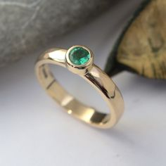 Fine Emerald gold ring hammer finihed band Gold And Silver Rings, Emerald, Jewels, Band, Jewelery, Sash, Gems, Bands, Jewerly