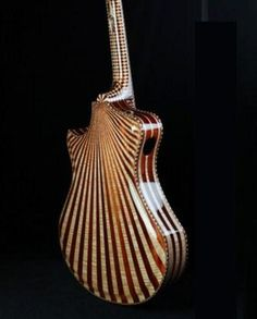 """Back view of The Red Queen created for Jack White's, Grammy's performance. Randy Parsons of Seattle is """"guitar-maker to the stars""""."""