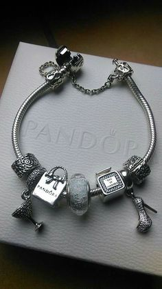 We love this fun, yet chic, shopping-themed bracelet! #PANDORATexas #PANDORAbracelet #PANDORAbracelets