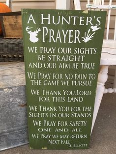 Hunting Prayer Sign